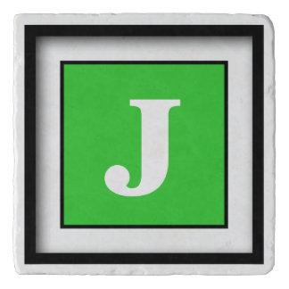 Personalized Monogram Lime Green Trivet