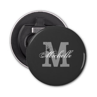 Personalized monogram magnetic beer bottle opener