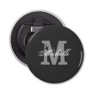 Personalized monogram magnetic beer bottle opener