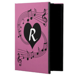 Personalized Monogram Musical notes heart