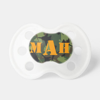 Personalized Monogram Name Military Camouflage Baby Pacifier