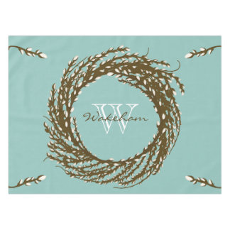 Personalized Monogram Pussy Willow Tablecloth