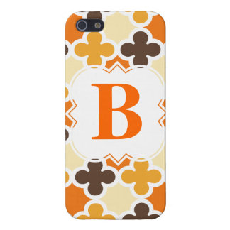 Personalized Monogram Retro Quatrefoil Pattern Case For The iPhone 5