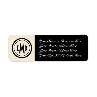 Personalized Monogram Return Address Label (E/B)