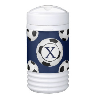 Personalized Monogram Soccer Balls Sports Cooler