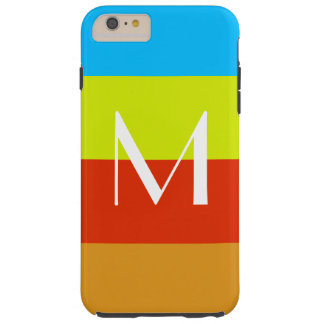 Personalized Monogram Summer Fun Tough iPhone 6 Plus Case