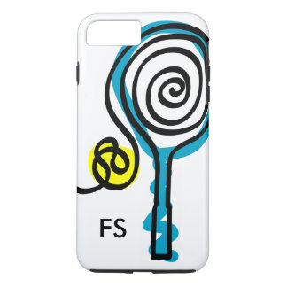 Personalized monogram tennis racket and ball iPhone 8 plus/7 plus case