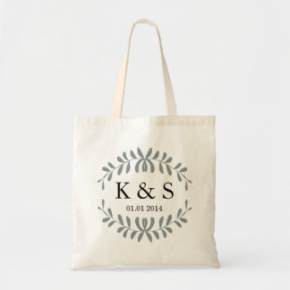 Personalized Monogram Wedding Favour | Grey Budget Tote Bag