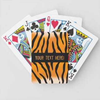 Personalized Monogram Wild Thing Tiger Stripes Bicycle Playing Cards