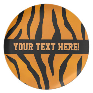 Personalized Monogram Wild Thing Tiger Stripes Plate