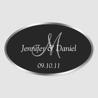 Personalized Monogram Wine Labels To Customize Oval Sticker