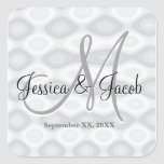 Personalized Monogrammed Wedding Stickers Stickers
