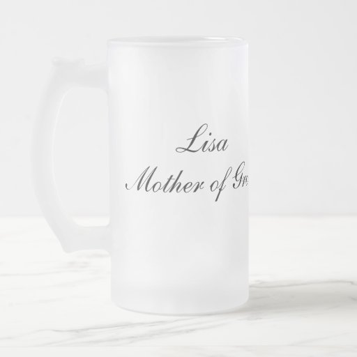 Personalized Mother of Groom Mug