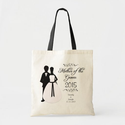 Personalized mother of the groom wedding favor bag
