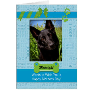 Personalized Mother's Day Card from the Dog Blue