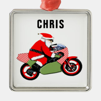 personalized motorcyclist collectible christmas ornament