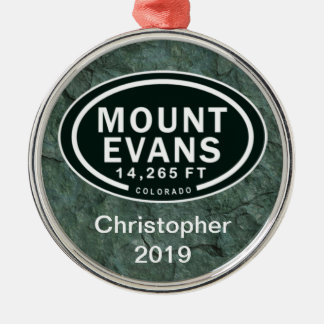 Personalized Mount Evans CO Mountain Ornament