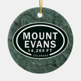 Personalized Mount Evans Colorado Rocky Mountain Round Ceramic Decoration