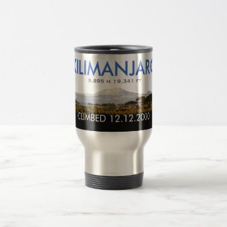 Personalized Mount Kilimanjaro Climb Commemorative Travel Mug