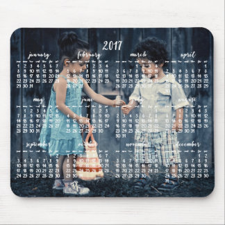 Personalized Mouse Pad Calendar 2017