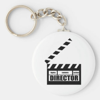 Personalized Movie Director Clapboard Gift Basic Round Button Key Ring