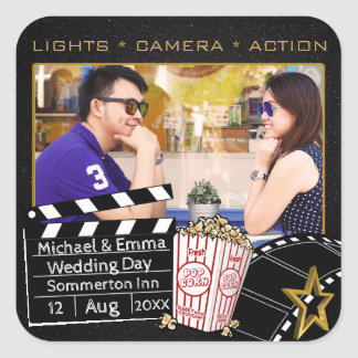Personalized Movie Star Frame Square Sticker