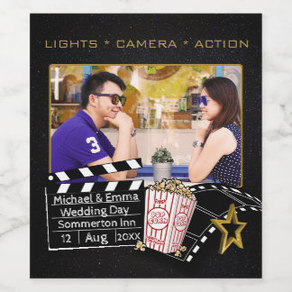 Personalized Movie Star Frame Wine Label