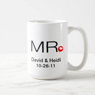 Personalized Mr and Mrs Wedding Mug