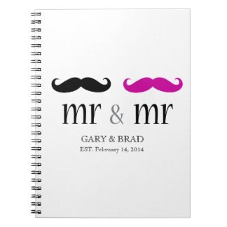 Personalized Mr. & Mr. Mustache Journal