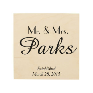 Personalized Mr. & Mrs. Wall Art Wood Canvases
