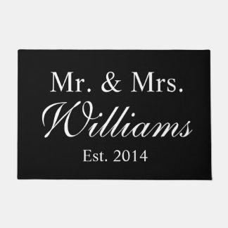 Personalized Mr. & Mrs. Wedding Doormat