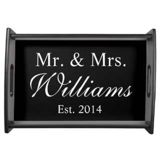 Personalized Mr. & Mrs. Wedding Serving Trays