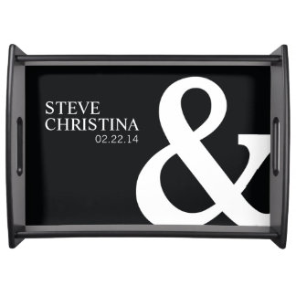 Personalized Mr. & Mrs. Wedding with Date Serving Tray