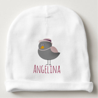 Personalized Mrs Bird Cute Chic Funny Cartoon Baby Beanie