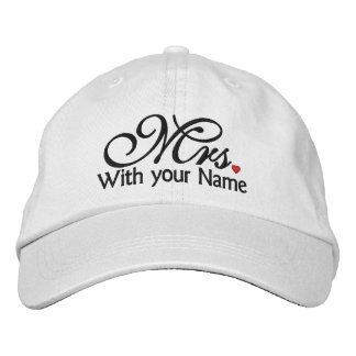 Personalized Mrs. Wife Bride His Hers Newly Weds Embroidered Baseball Caps