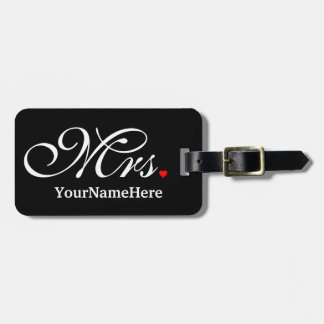 Personalized Mrs. Wife Bride His Hers Newly Weds Tag For Luggage