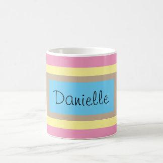 Personalized Multicolor Pastels Basic White Mug