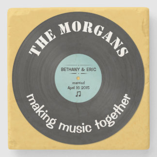 Personalized Music Album Retro Design Stone Coaster