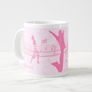 Personalized Music Dance and Drama Pink Giant Coffee Mug