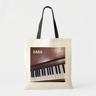 personalized music gift tote bag
