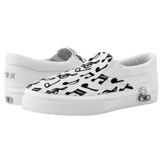 Personalized Music Note Design Printed Shoes