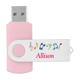 Personalized Music Notes USB USB Flash Drive