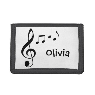 "Personalized ""Music Notes"" Wallet"