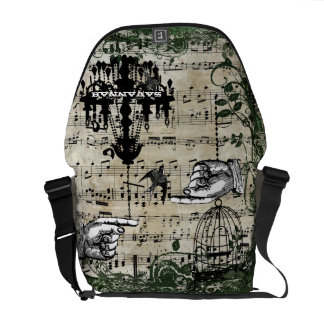 Personalized Musical Chandelier Vintage Birdcage Commuter Bags