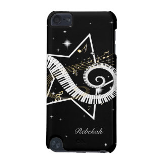 Personalized Musical Star golden notes iPod Touch (5th Generation) Covers