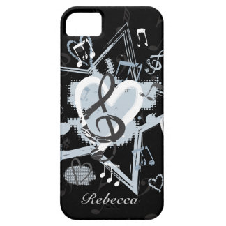 Personalized Musical Star notes designer pattern Case For The iPhone 5