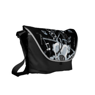 Personalized Musical Star notes designer pattern Commuter Bags