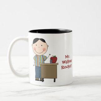 Personalized My Teacher Rocks Mug