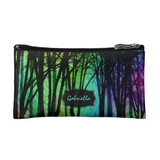 Personalized Mystical Woods Clutch Makeup Bag