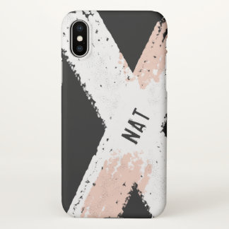 Personalized Name Abstract iPhone X Case Matte